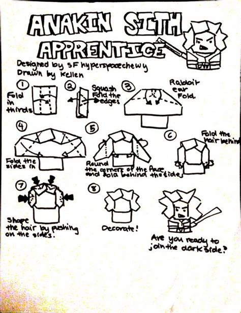 how to make origami anakin skywalker search results origami yoda page 6