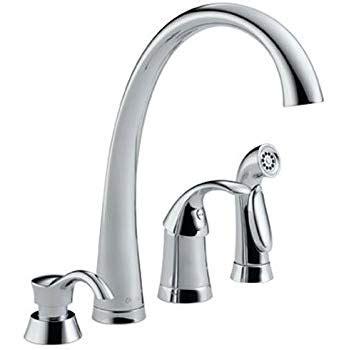 delta bellini kitchen faucet delta 11946 sssd dst bellini single handle kitchen faucet with spray and soap dispenser