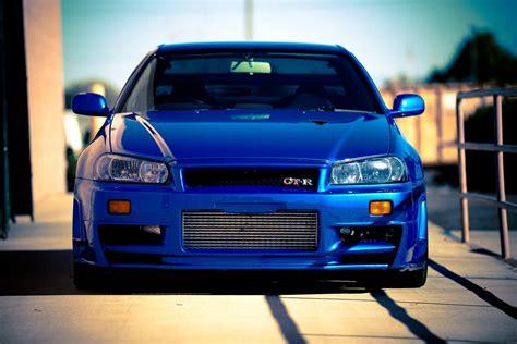 Wallpaper Car Nissan Skyline Gtr by Nissan Skyline Gtr R34 Car Blue Tuning Wallpaper