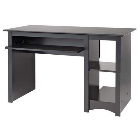 small computer desk black prepac sonoma small wood laminate black computer desk