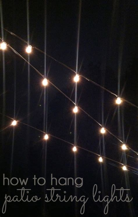 how to hang outdoor patio string lights outdoor style how to hang commercial grade string lights