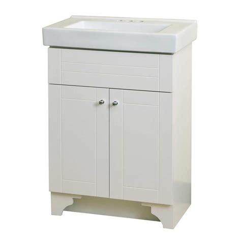 lowes white bathroom vanity shop style selections white integral single sink bathroom vanity with vitreous china top common