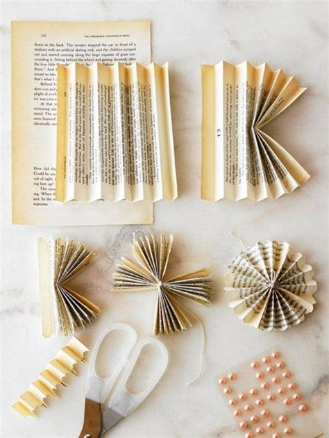 do it yourself paper crafts stylish projects from vintage books flower and