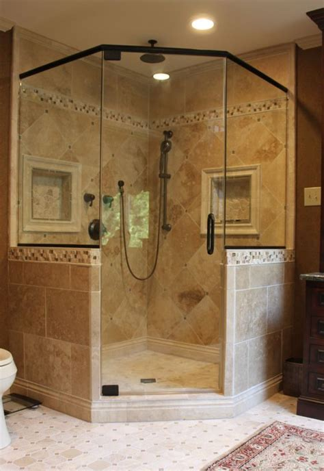 bathroom corner showers corner showers the space saving shower bath decors