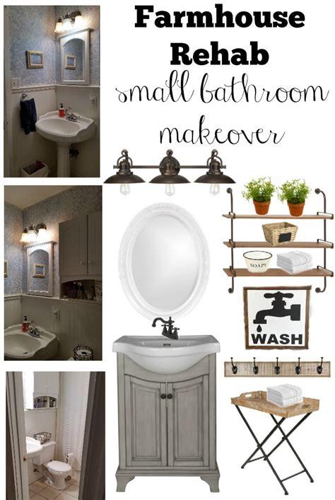 Makeover Small Bathroom by Farmhouse Rehab Small Bathroom Makeover