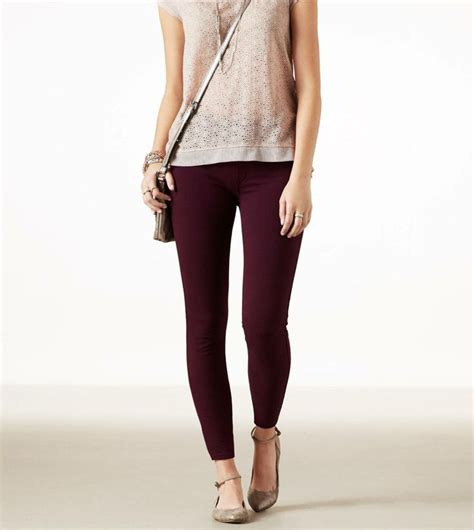 american eagle knit jeggings crushed berry ae knit jegging i just got this jeggins