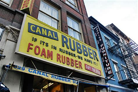 rubber st nyc canal shops and traders lower manahattan