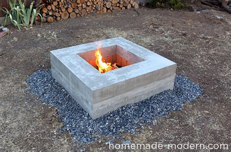 concrete pits wood burning pits plans bench with storage