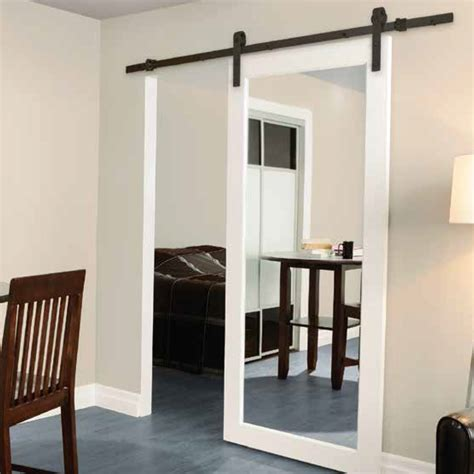 mirrored barn door mirrored mirrors sliding mirror closet doors hardware