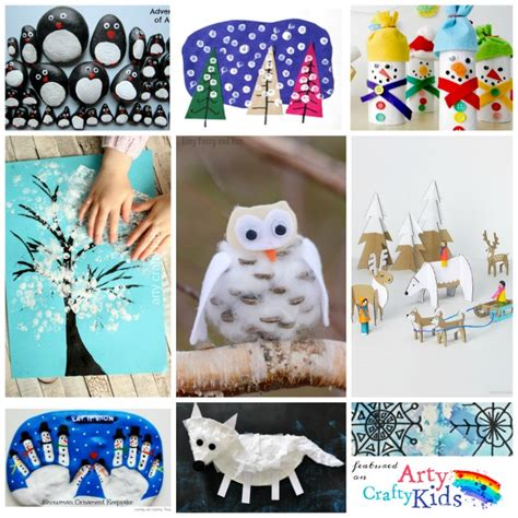 kid winter crafts 16 easy winter crafts for arty crafty