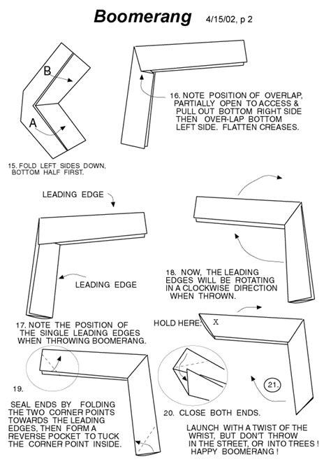 origami boomarang how to make an origami boomerang rob s world