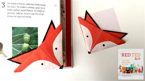 how to make an origami bookmark fox crafts easy origami bookmark