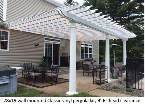 vinyl pergola kit pergola kits usa