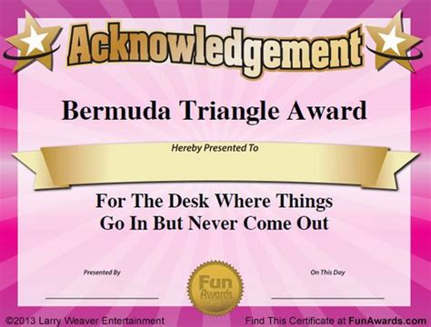 award ideas humorous awards ideas certificates award ideas