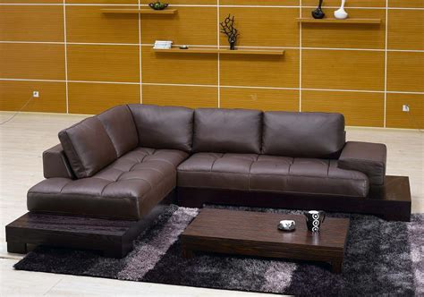 modern leather sectional sofas modern sectional d s furniture
