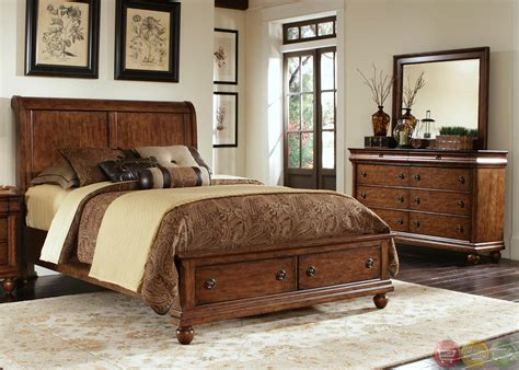cherry bedroom furniture set rustic traditions cherry storage bedroom furniture set