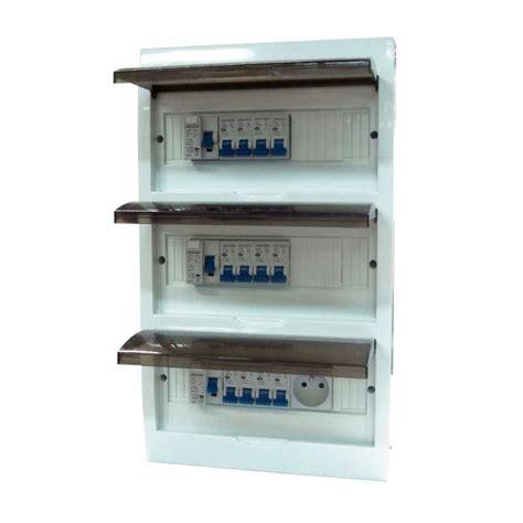 zenitech coffret 233 lectrique pr 233 233 quip 233 3 rang 233 es 36 modules blanc achat vente tableau