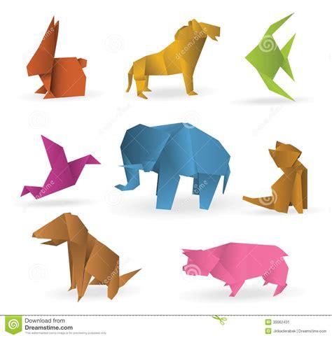 origami farm animals origami animals stock image image 30062431