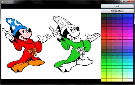 Software Gratuito fai colorare disegni ai bambini al computer con kidpaint
