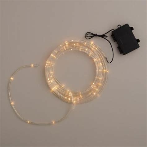 mini rope lights mini led battery operated rope lights world market