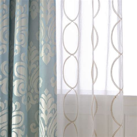 Dining Room Drapery Ideas white patterned curtains homesfeed