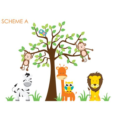 nursery wall decal tree wall decal source nursery jungle tree giraffe and safari