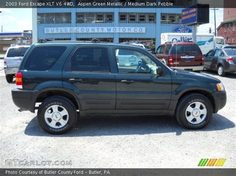 2003 Ford Escape Xlt by Aspen Green Metallic 2003 Ford Escape Xlt V6 4wd
