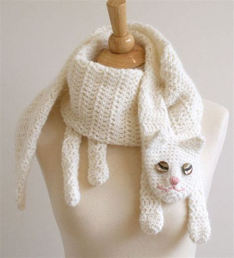 knitted cat scarf pattern cat cuddler scarf pattern pattern by bees knees knitting