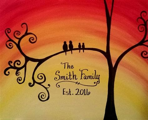 family paint nite island paint nite established family tree