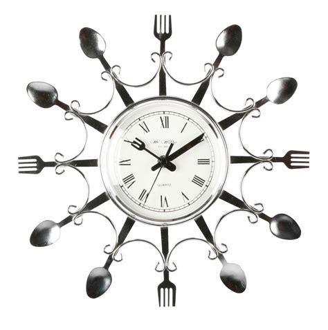 designer kitchen clocks kitchen clocks novelty design chrome colour fork spoon