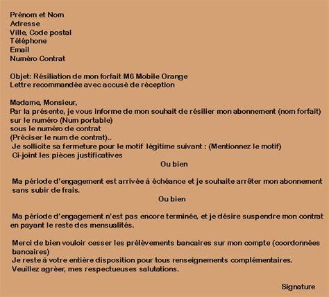 r 233 silier forfait m6 mobile orange condition adresse lettre r 233 siliation
