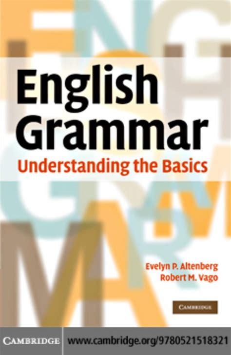 book pdf free cambridge grammar understanding the basics
