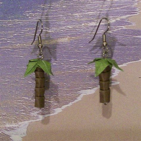 origami palm tree palm tree origami earrings by creationsbyjessie on deviantart