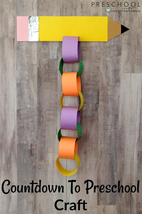 back to school crafts for countdown to preschool back to school craft preschool
