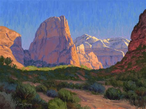 zion acrylic painting zion light show by delong