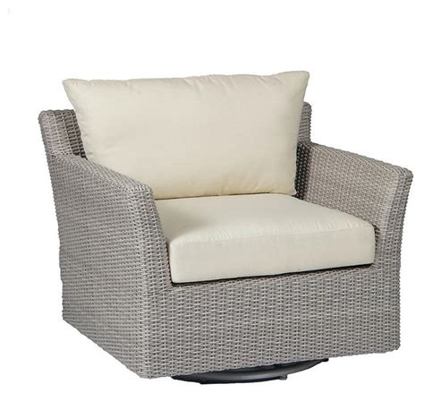 swivel chairs outdoor club woven swivel outdoor lounge chair with cushions