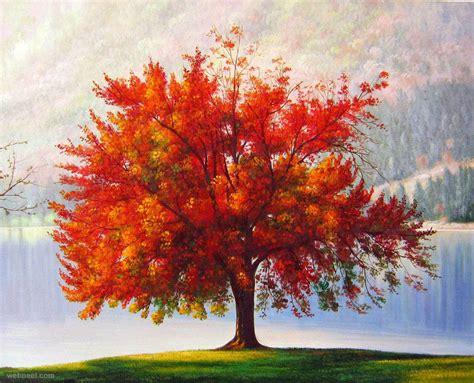 paint tree realistic tree painting 26