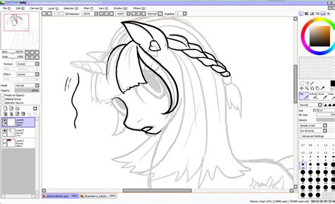 paint tool sai lineart brushes artwork by kimicookie paint tool sai tutorial my