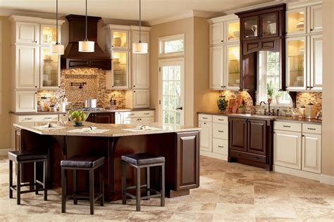 kitchen colors with brown cabinets two tone kitchen cabinets brown and white ideas