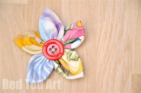 easy flower crafts for easy fabric flowers