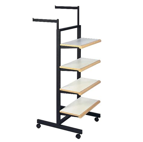 clothes rack with shelves clothing display rack with shelves subastral