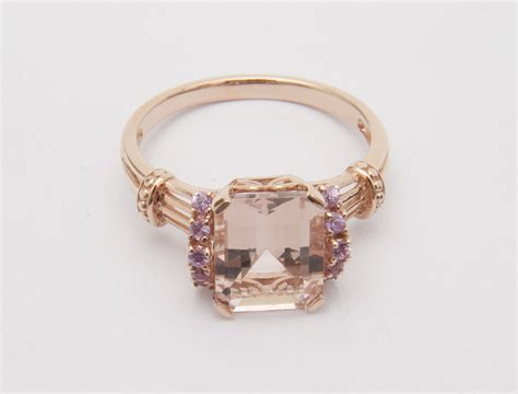 ring jewelry qvc jewelry morganite ring newsdesk
