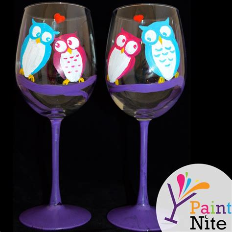 paint nite wine glasses s day paint nite wine glass painting wine and