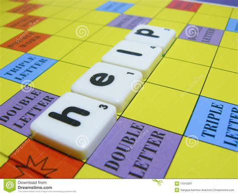 word play scrabble help scrabble tiles help royalty free stock photography