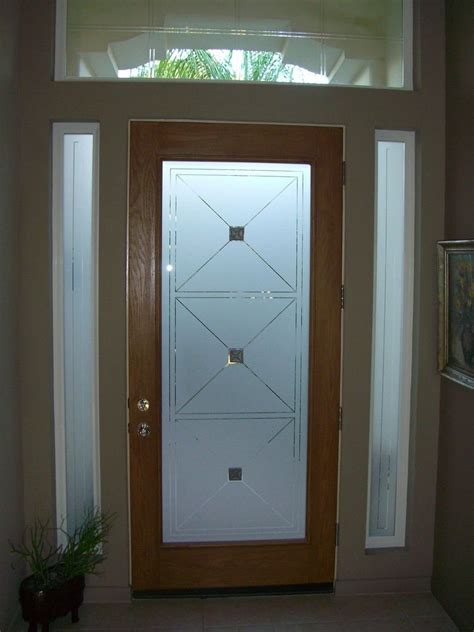 glass door window etched glass entry door windows frosted front doors