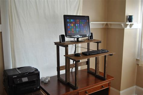 custom standing desk custom height standing computer desk reclaimed by yogadwelling