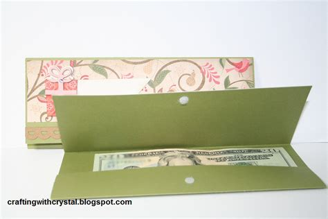 how to make a money holder card crafting with money holder cards
