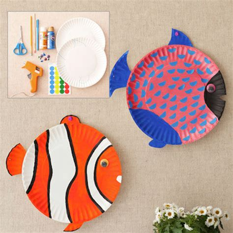 fish paper plate craft arts and crafts archives