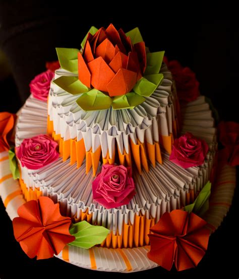 3d origami cake pap 237 rvil 225 g pap 237 rtorta origami cake