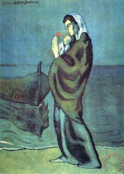 picasso paintings when he was a child pablo picasso and child on the 1902 painting